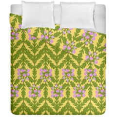 Texture Heather Nature Duvet Cover Double Side (california King Size)