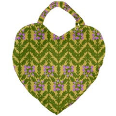 Texture Heather Nature Giant Heart Shaped Tote