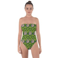 Pattern Nature Texture Heather Tie Back One Piece Swimsuit