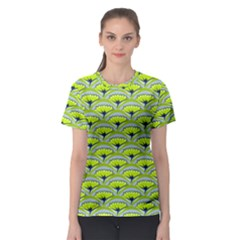Texture Green Plant Leaves Arches Women s Sport Mesh Tee