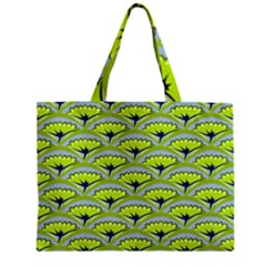 Texture Green Plant Leaves Arches Zipper Mini Tote Bag