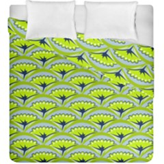 Texture Green Plant Leaves Arches Duvet Cover Double Side (king Size)