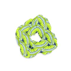 Texture Green Plant Leaves Arches Velvet Scrunchie by Pakrebo