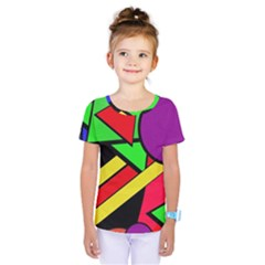 Background Color Art Pattern Form Kids  One Piece Tee