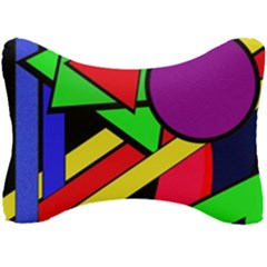 Background Color Art Pattern Form Seat Head Rest Cushion