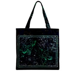 Constellation Constellation Map Zipper Grocery Tote Bag