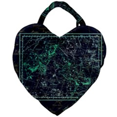 Constellation Constellation Map Giant Heart Shaped Tote