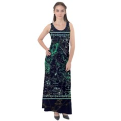 Constellation Constellation Map Sleeveless Velour Maxi Dress