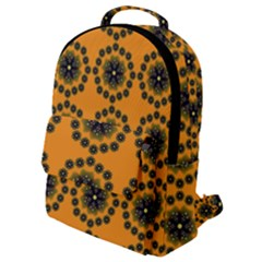 Desktop Abstract Template Flower Flap Pocket Backpack (small)
