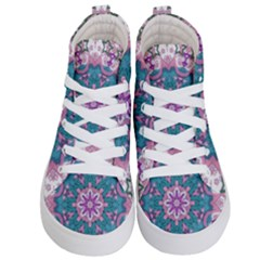 Mandala Pattern Abstract Kids  Hi Top Skate Sneakers
