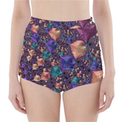 Pattern Art Ornament Fractal High Waisted Bikini Bottoms