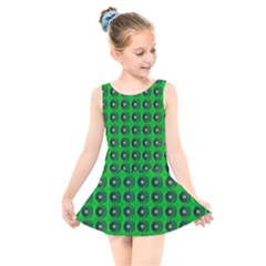 Texture Stucco Graphics Flower Kids  Skater Dress Swimsuit
