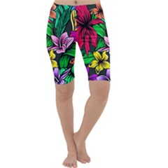 Hibiscus Flower Plant Tropical Cropped Leggings