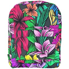 Hibiscus Flower Plant Tropical Full Print Backpack by Pakrebo