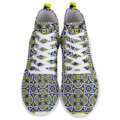 Tiles Panel Decorative Decoration Men s Lightweight High Top Sneakers by Pakrebo