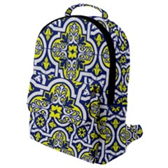 Tiles Panel Decorative Decoration Flap Pocket Backpack (small)