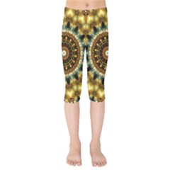 Pattern Abstract Background Art Kids  Capri Leggings  by Pakrebo