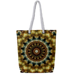 Pattern Abstract Background Art Full Print Rope Handle Tote (small)