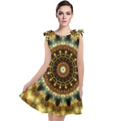 Pattern Abstract Background Art Tie Up Tunic Dress