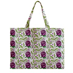 Default Texture Background Floral Zipper Mini Tote Bag