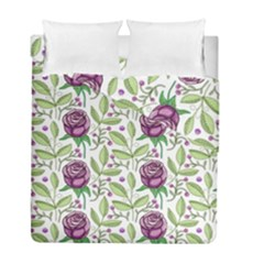 Default Texture Background Floral Duvet Cover Double Side (full/ Double Size)