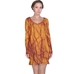 Lightning Internal Blood Vessel Long Sleeve Nightdress