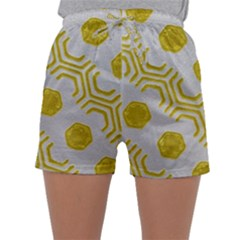 Abstract Background Hexagons Sleepwear Shorts