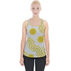 Abstract Background Hexagons Piece Up Tank Top