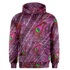 Red Peacock Feathers Color Plumage Men s Pullover Hoodie