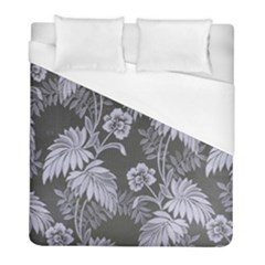 Curtain Ornament Flowers Leaf Duvet Cover (full/ Double Size)