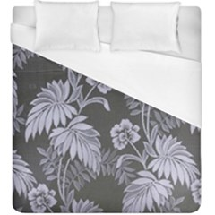 Curtain Ornament Flowers Leaf Duvet Cover (king Size) by Pakrebo