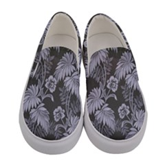 Curtain Ornament Flowers Leaf Women s Canvas Slip Ons