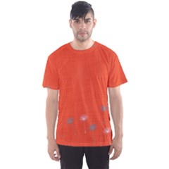 Dandelion Wishes   Red Men s Sports Mesh Tee