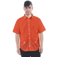 Dandelion Wishes   Red Men s Short Sleeve Shirt
