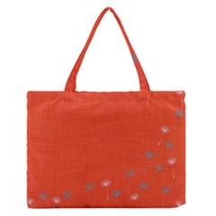 Dandelion Wishes   Red Zipper Medium Tote Bag