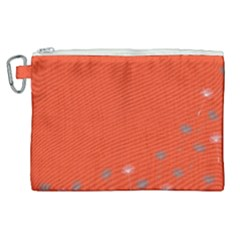 Dandelion Wishes   Red Canvas Cosmetic Bag (xl)