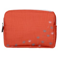 Dandelion Wishes - Red Make Up Pouch (medium)
