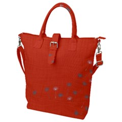 Dandelion Wishes   Red Buckle Top Tote Bag by WensdaiAddamns