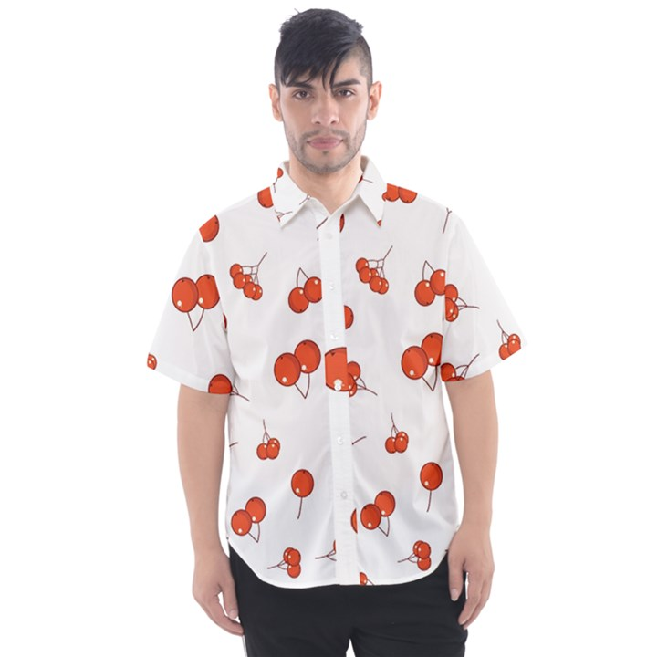Cherry Picked Men s Short Sleeve Shirt