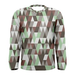 Coco Mint Triangles Men s Long Sleeve Tee