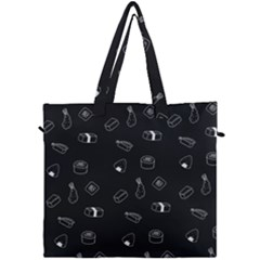 Sushi Pattern   Greyscale Canvas Travel Bag