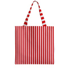 Candy Stripes Grocery Tote Bag