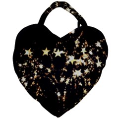 Shooting Stars Giant Heart Shaped Tote by WensdaiAddamns