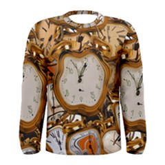 Time Clock Watches Men s Long Sleeve Tee