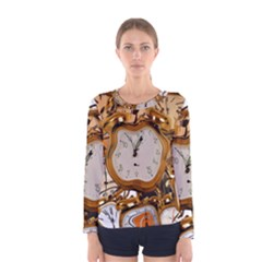 Time Clock Watches Women s Long Sleeve Tee by Mariart