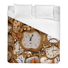 Time Clock Watches Duvet Cover (full/ Double Size)