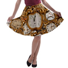 Time Clock Watches A Line Skater Skirt
