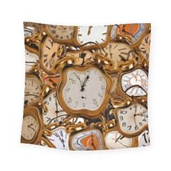 Time Clock Watches Square Tapestry (small)