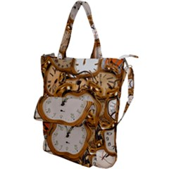 Time Clock Watches Shoulder Tote Bag