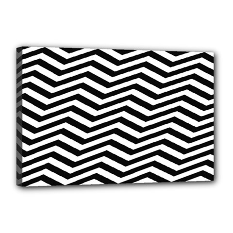 Zigzag Chevron Pattern Canvas 18  X 12  (stretched)